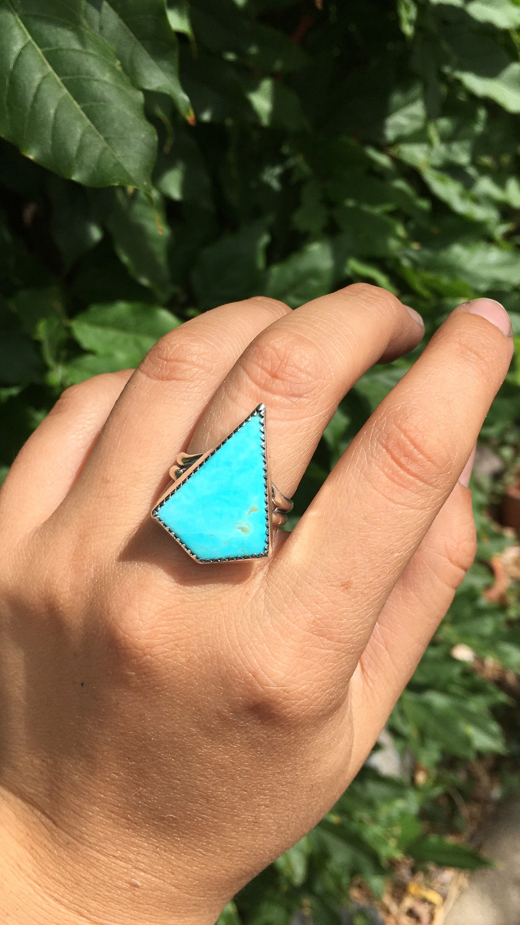 Kingman turquoise kite ring - size 10