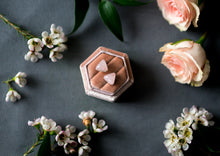 Load image into Gallery viewer, Rose quartz triangle studs