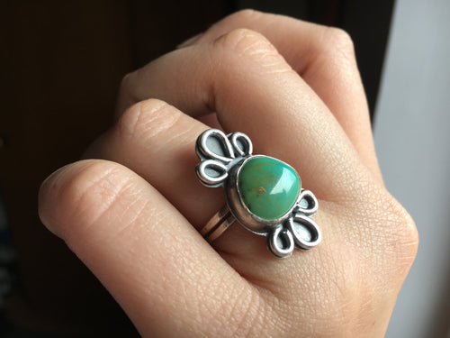 Royston turquoise loops ring