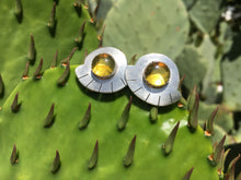 Load image into Gallery viewer, Mexican amber fan earrings