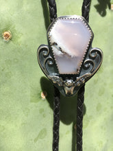 Load image into Gallery viewer, Purple dendritic opal bat bolo tie