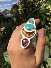 Load image into Gallery viewer, Desert Bloom statement ring - size 7