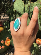 Load image into Gallery viewer, Amazonite oval ring - size 6.5