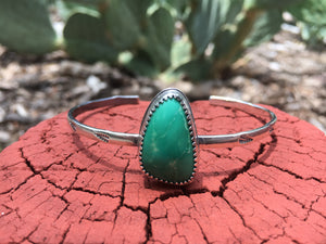 Simple green Royston turquoise cuff
