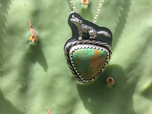 Howl pendant - Sky song turquoise triangle