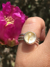 Load image into Gallery viewer, Rutilated quartz stacker ring set - size 5