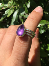 Load image into Gallery viewer, Amethyst stacker ring set - size 5.75