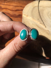 Load image into Gallery viewer, Green Royston Turquoise Stud Earrings