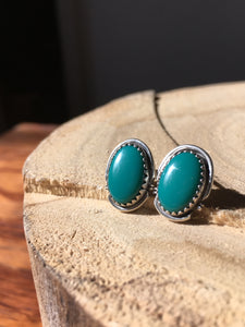 Green Royston Turquoise Stud Earrings