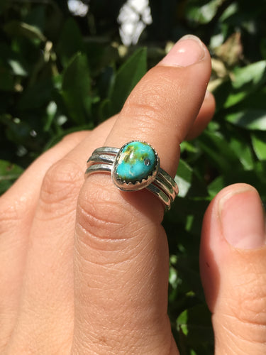 Sonoran Gold turquoise stacker ring set - size 6