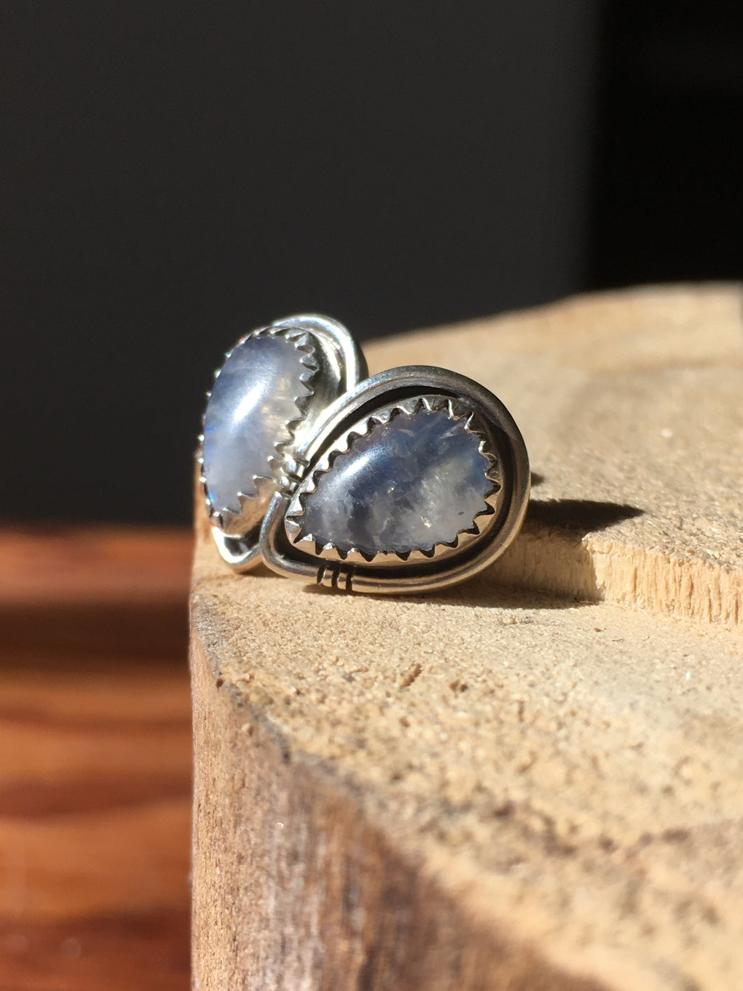Moonstone Stud Earrings