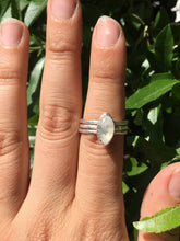 Load image into Gallery viewer, Moonstone stacker ring set - size 6.5