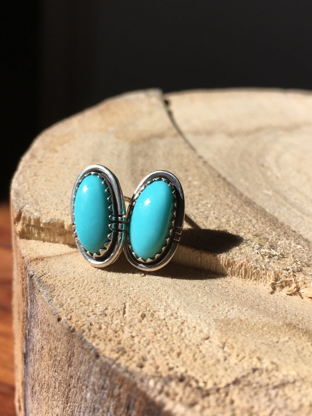 Light blue Campitos Turquoise Stud Earrings