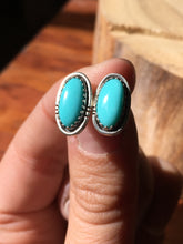 Load image into Gallery viewer, Light blue Campitos Turquoise Stud Earrings