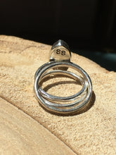 Load image into Gallery viewer, Moonstone Marquis Stacker Ring set - size 4