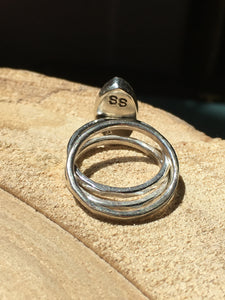 Moonstone Marquis Stacker Ring set - size 4