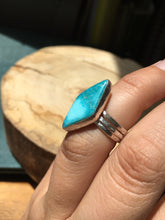 Load image into Gallery viewer, White Water turquoise diamond Stacker Ring Set - size 5