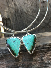 Load image into Gallery viewer, Cloud Mountain Turquoise Hoop Earrings