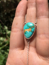 Load image into Gallery viewer, Royston turquoise and moonstone lariat necklace