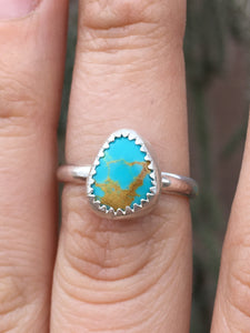 Royston turquoise everyday ring - size 7