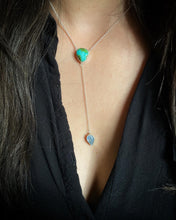 Load image into Gallery viewer, Sonoran Gold Turquoise with Moonstone Lariat