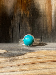 Cloud Mountain turquoise stacker ring set - size 6