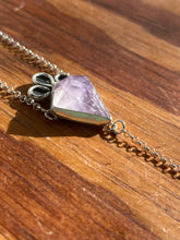Load image into Gallery viewer, Amethyst Kite with Moonstone Lariat Necklace (A)