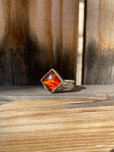 Baltic amber stacker ring set - size 9
