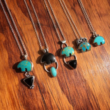 Load image into Gallery viewer, Osito Necklace #2 - Bright blue turquoise