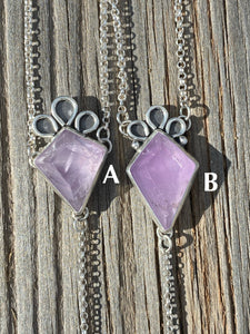 Amethyst Kite with Moonstone Lariat Necklace (A)