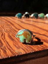 Load image into Gallery viewer, Osito Ring #2 - Earthy blue-green turquoise (size 5+)