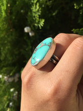 Load image into Gallery viewer, Natural Hubei chunky turquoise ring - size 8.5/9