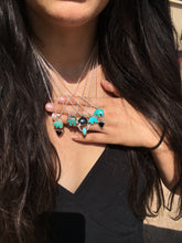 Load image into Gallery viewer, Osito Necklace #1 - Bright blue turquoise with black onyx
