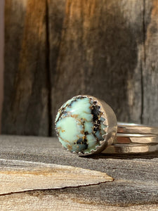 Saguaro variscite stacker ring set - size 7.5