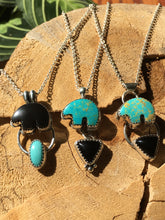 Load image into Gallery viewer, Osito Necklace #3 - Black onyx with Campitos turquoise