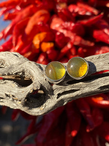 Mexican amber stud earrings