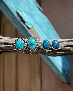 Hubei Turquoise Stud Earrings
