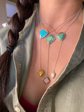 Load image into Gallery viewer, Hubei turquoise with Rose Quartz Lariat Necklace