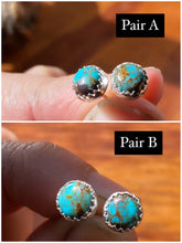 Load image into Gallery viewer, Kingman turquoise studs