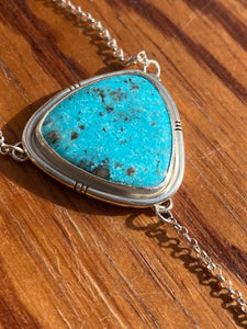 Persian Turquoise with Mexican Amber Lariat