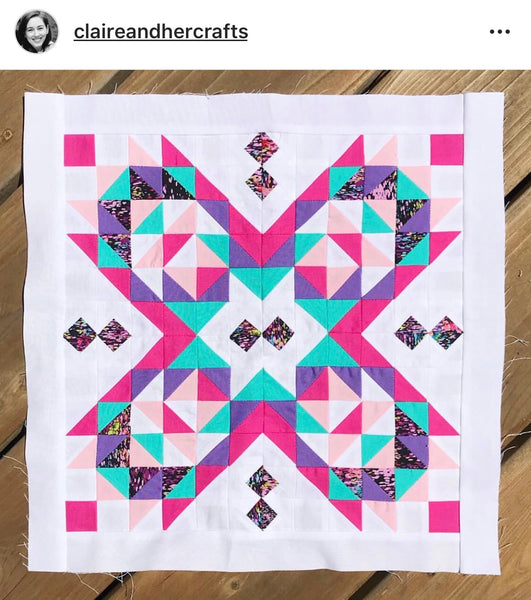 Suncake Quilt by @claireandhercrafts