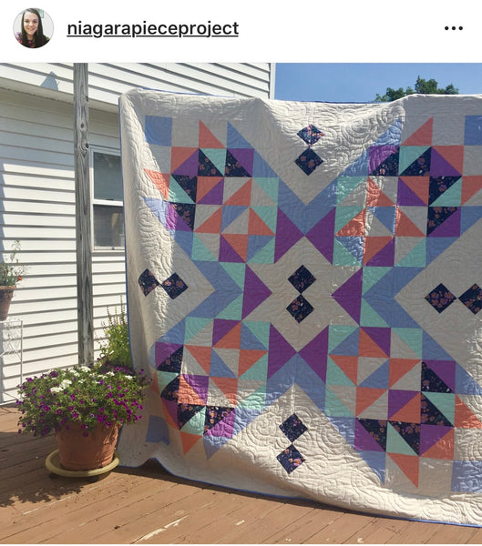 Suncake Quilt by @niagarapieceproject