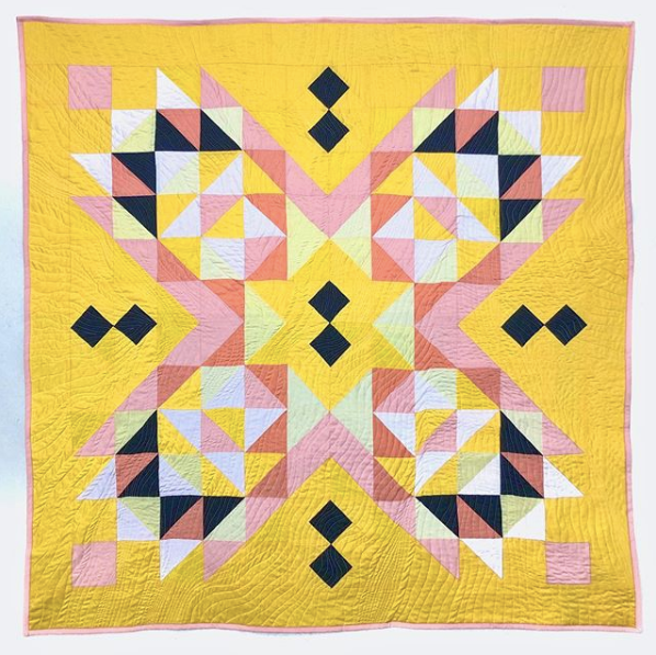 Suncake Quilt in Citrus Colors