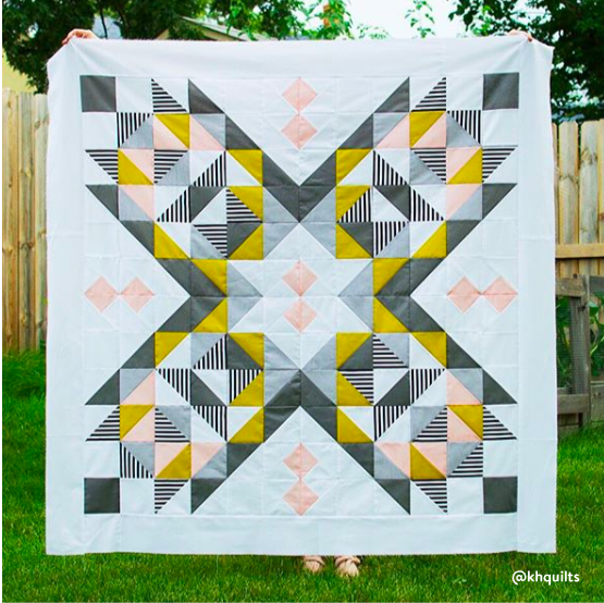 Suncake Quilt by @khquilts