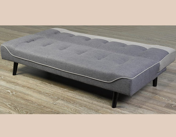 Modern 2 Tone Grey Convertible Sofa Bed