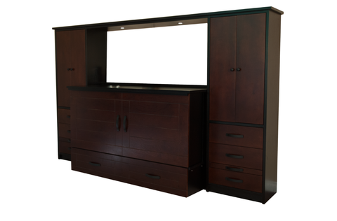 CabinetBed™ Metro Premium Wall Unit Queen Size - CompactSleepSolutions