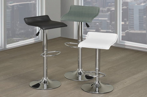 Adjustable Hydraulic Lift Faux Leather Modern Bar Stools