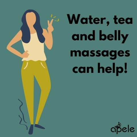 belly massages help with bloating during periods