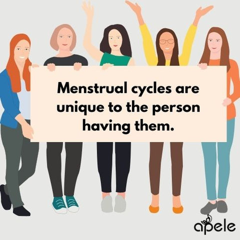 Women have different menstrual cycles