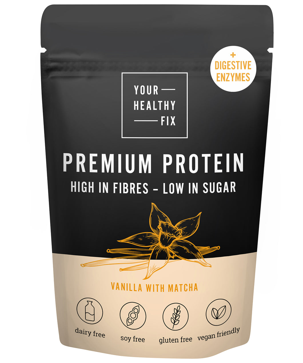 Vanilla protein with digestive enzymes